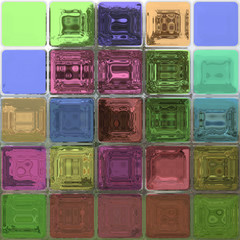 Crystal tiles generated hires texture