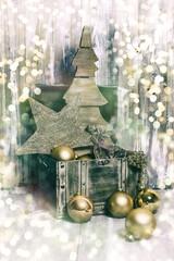 merry crhistmas card bokeh