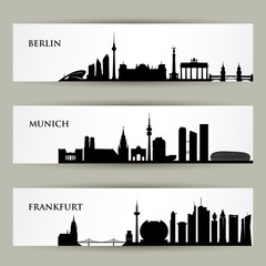 City skylines in Germany