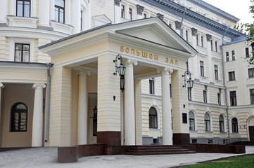 Entrance to the Grand hall of the Moscow Conservatory