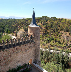 Detail of the Palace of the Alcazar in Segovia, Spain