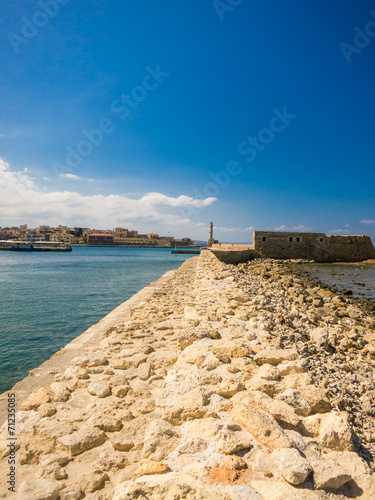 canvas print picture Hafen in Chania