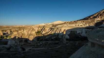 Aerial view of   Cappadocia shadow tima lapse