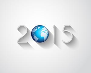 Original 2015 flat style  new year modern background