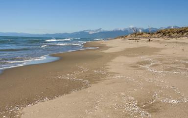 Tuscany deserted sand beach