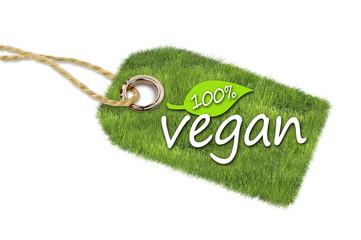 Anhänger mit 100% Vegan