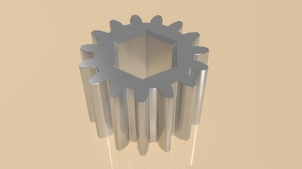 Gear - Toothed wheel with internal hexagon