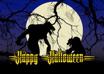 happy halloween werwolf
