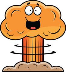 Cartoon Mushroom Cloud Happy