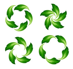Green fire icons