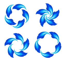 Blue fire icons