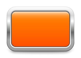 Orange metallic button - rectangular template