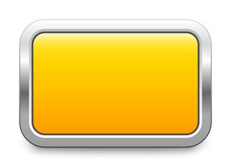 Yellow metallic button - rectangular template