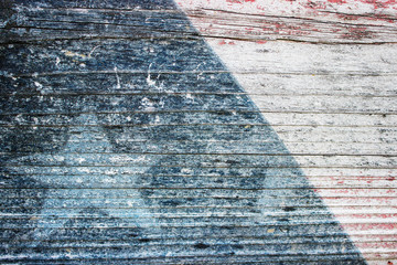 Americana - Patriotic Paint Wearing Off Wooden Bench