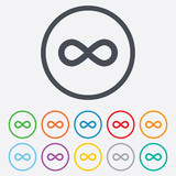 Limitless sign icon. Infinity symbol. poster