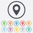Map pointer icon. GPS location symbol. - 71238430