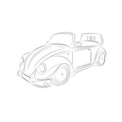 Vintage car drawing