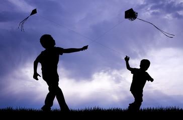 kite festival at sunset