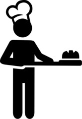 Baker Bakery Illustration