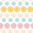Abstract decorative circles stars striped seamless pattern