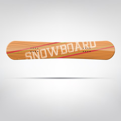 Snowboard vector mock up