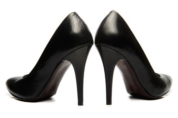 Black stiletto High Heels Shoe
