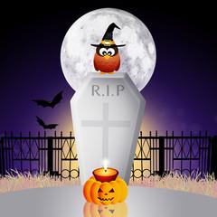 Cemetery on Halloween
