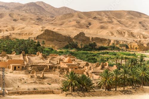 Foto op Canvas Tunesië Oasis Túnez