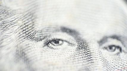 Eye - macro view - dollar bill