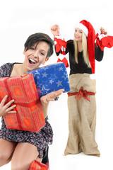 Spaß auf der Weihnachtsfeier