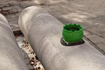 Kanalrohr Anschlusssystem in einer Kernlochbohrung in Betonrohr