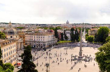 Piazza del Popolo and St. Peter's Basilica