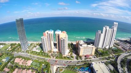Aerial Sunny Isles Beach 4k