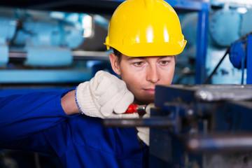 mechanic working in factory