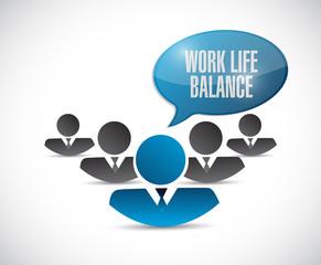 work life balance team illustration