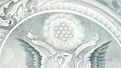Dollar bill - eagle eye to stars - view change