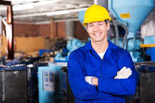 Leinwanddruck Bild blue collar worker