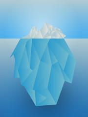 Illustration of glacier in the sea