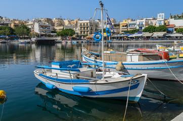 Greek boat at Agios Nikolaos port, Crete island