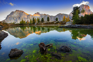 Limides Lake and Mount Lagazuoi, Dolomites