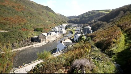 View of Boscastle North Cornwall England UK