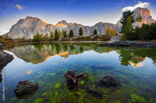 Limides Lake and Mount Lagazuoi, Dolomites - 71245220