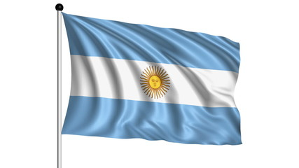 Flag of Argentina - loop (+ alpha channel)