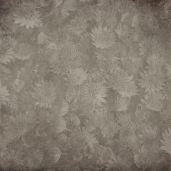 textured old paper background with Astrantia,