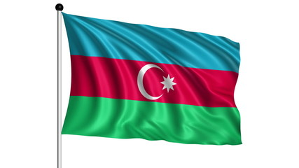 flag of Azerbaijan - loop (+ alpha channel)