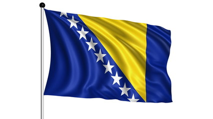 flag of Bosnia and Herzegovina - loop (+ alpha channel)