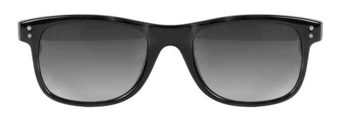 Sunglasses black frame isolated clean white background nobody