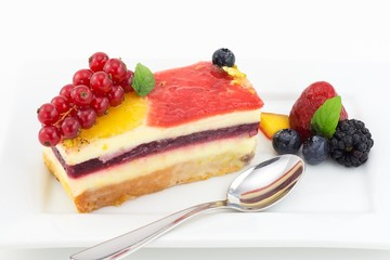 torta con gelèe di frutta