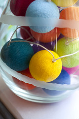 Decorative lighting with colored balls