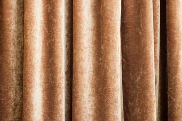 Vintage natural velvet brown curtain background texture
